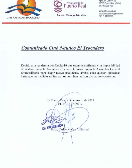 Comunicado Oficial: Aplazamiento de elección del nuevo presidente debido a COVID-19